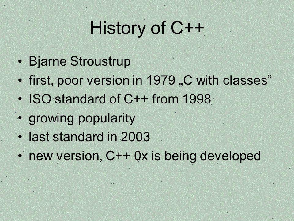 History of C++ Bjarne Stroustrup