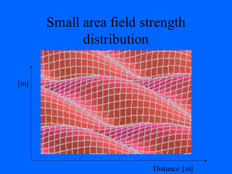 Small area field strength distribution
