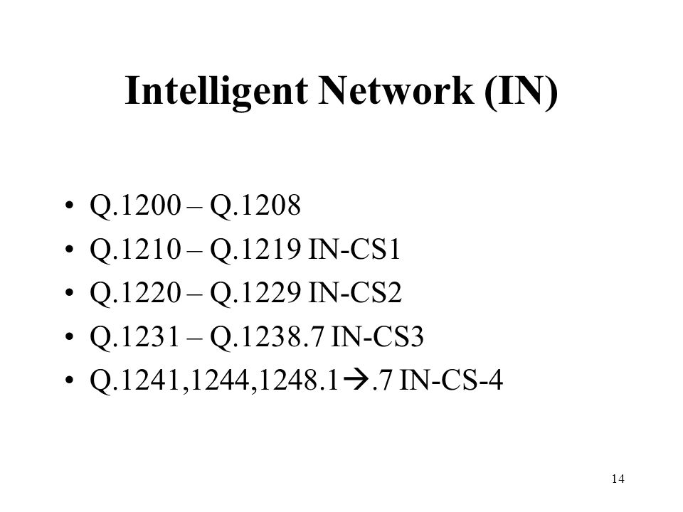 Intelligent Network (IN)