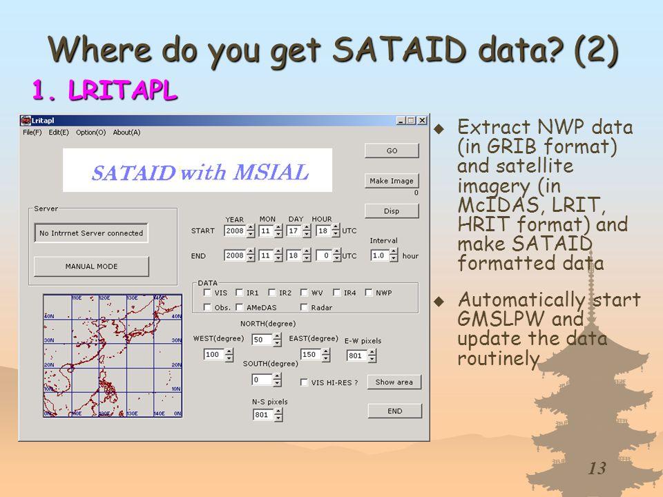 Where do you get SATAID data (2)