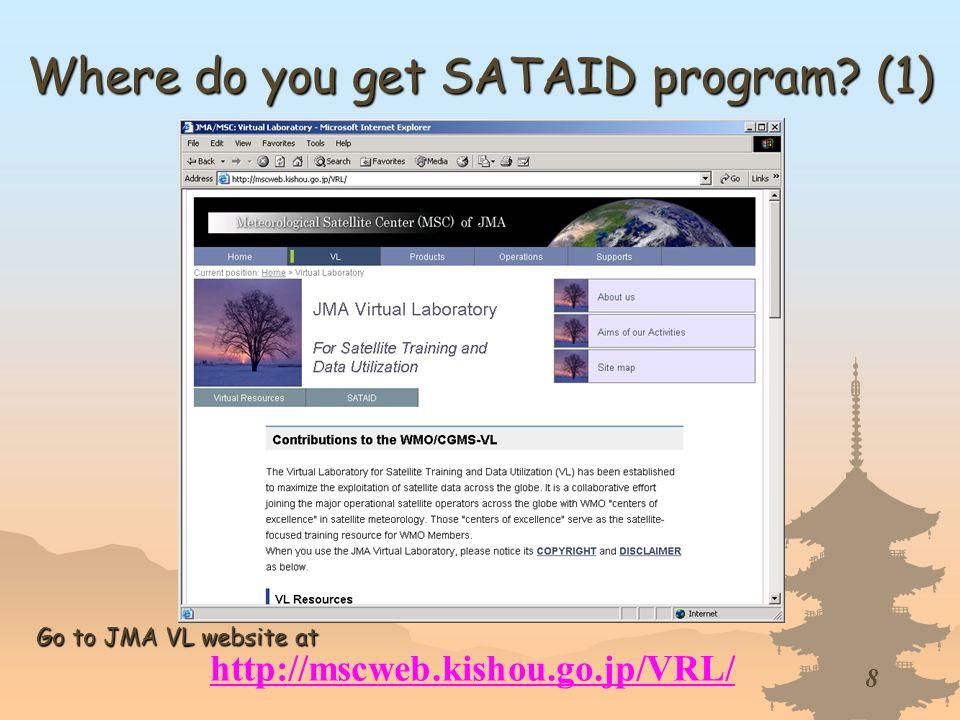 Where do you get SATAID program (1)