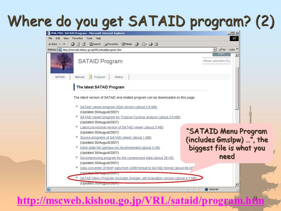 Where do you get SATAID program (2)