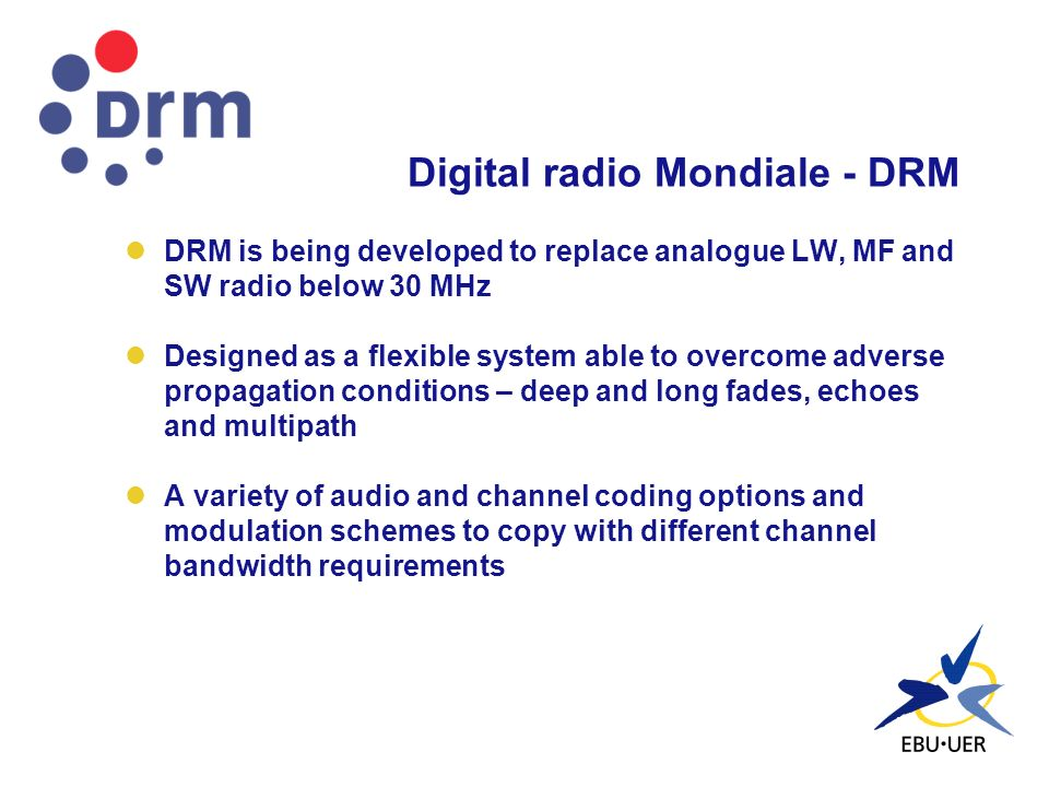 Digital radio Mondiale - DRM