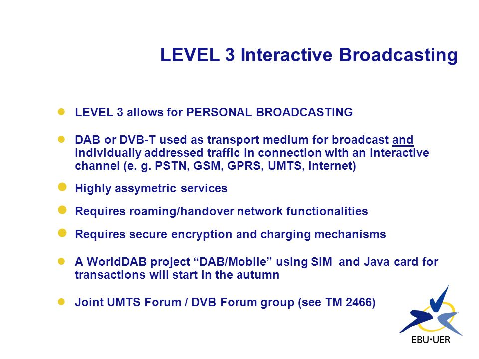 LEVEL 3 Interactive Broadcasting
