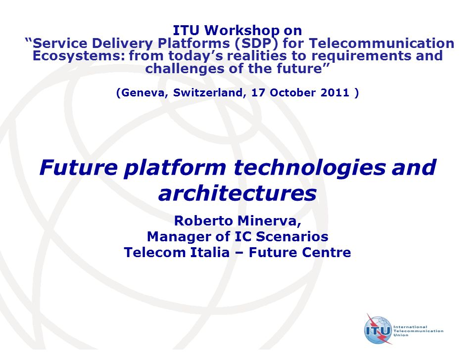 Future platform technologies and architectures