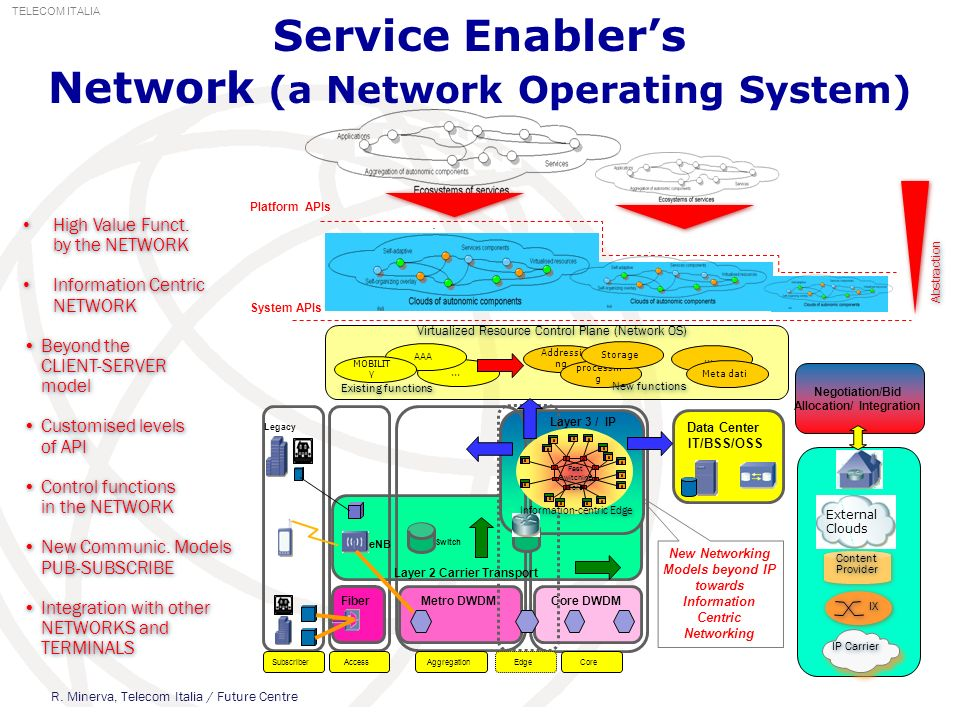 Service Enabler's Network (a Network Operating System)