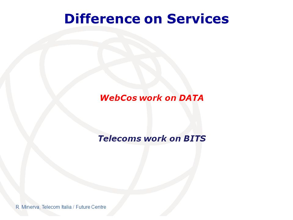 Difference on Services