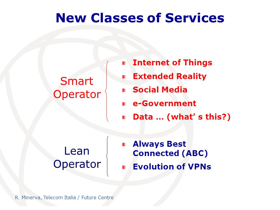 New Classes of Services