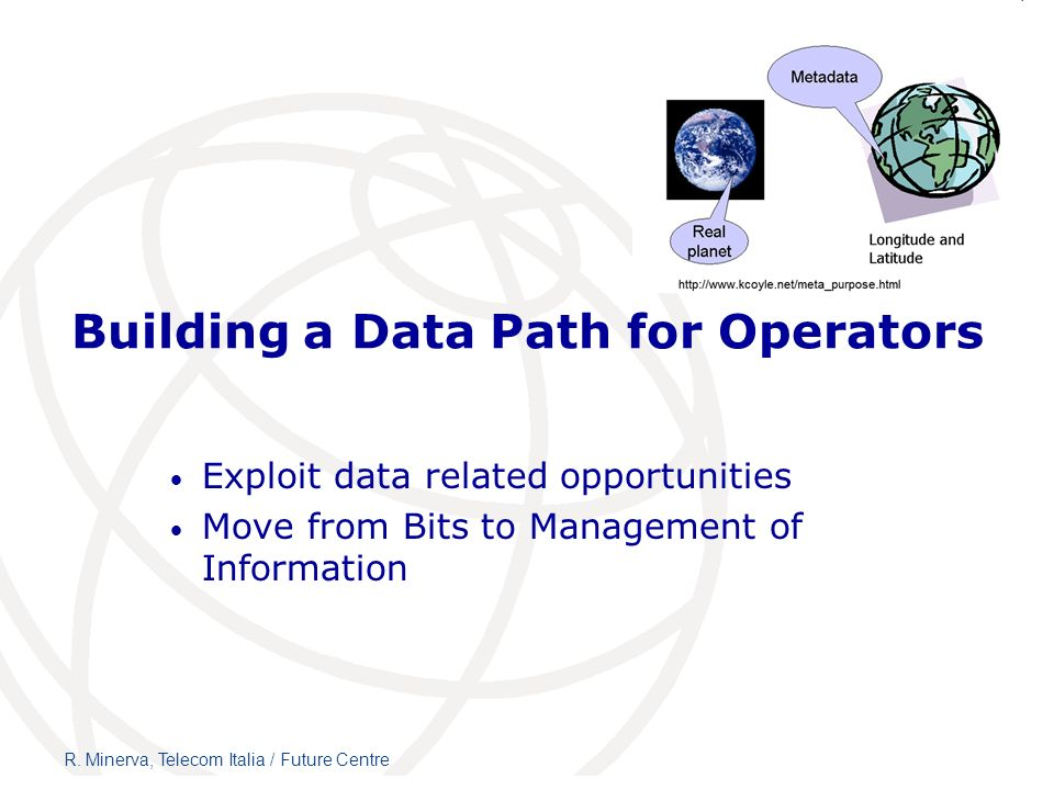 Building a Data Path for Operators