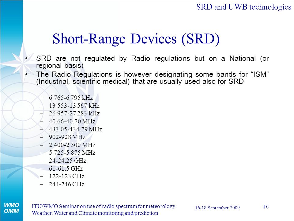 Short-Range Devices (SRD)