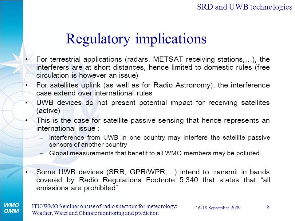 Regulatory implications