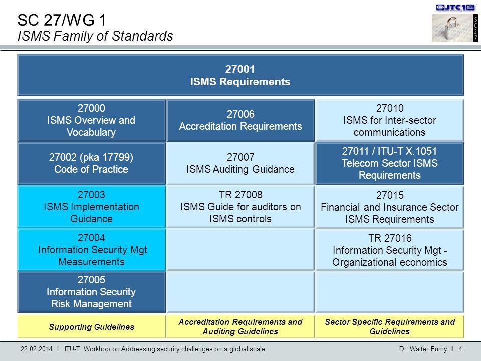 SC 27/WG 1 ISMS Family of Standards