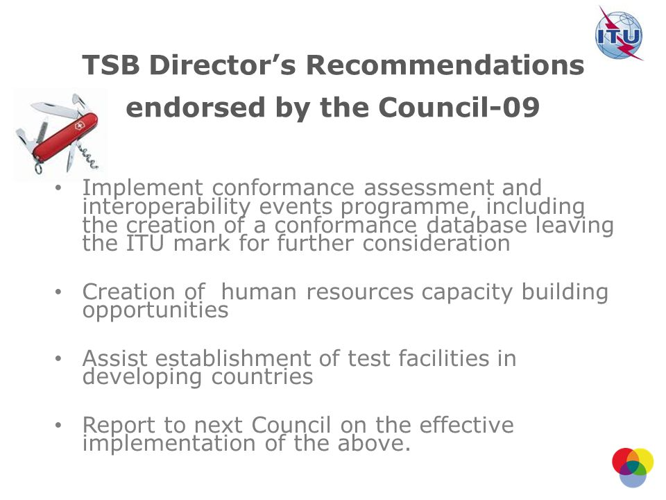 TSB Director's Recommendations endorsed by the Council-09