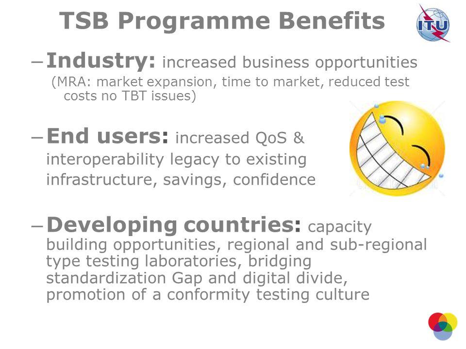 TSB Programme Benefits
