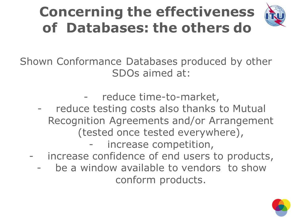 Concerning the effectiveness of Databases: the others do