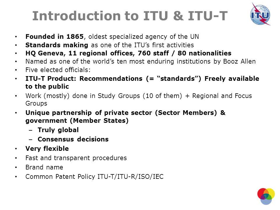 Introduction to ITU & ITU-T