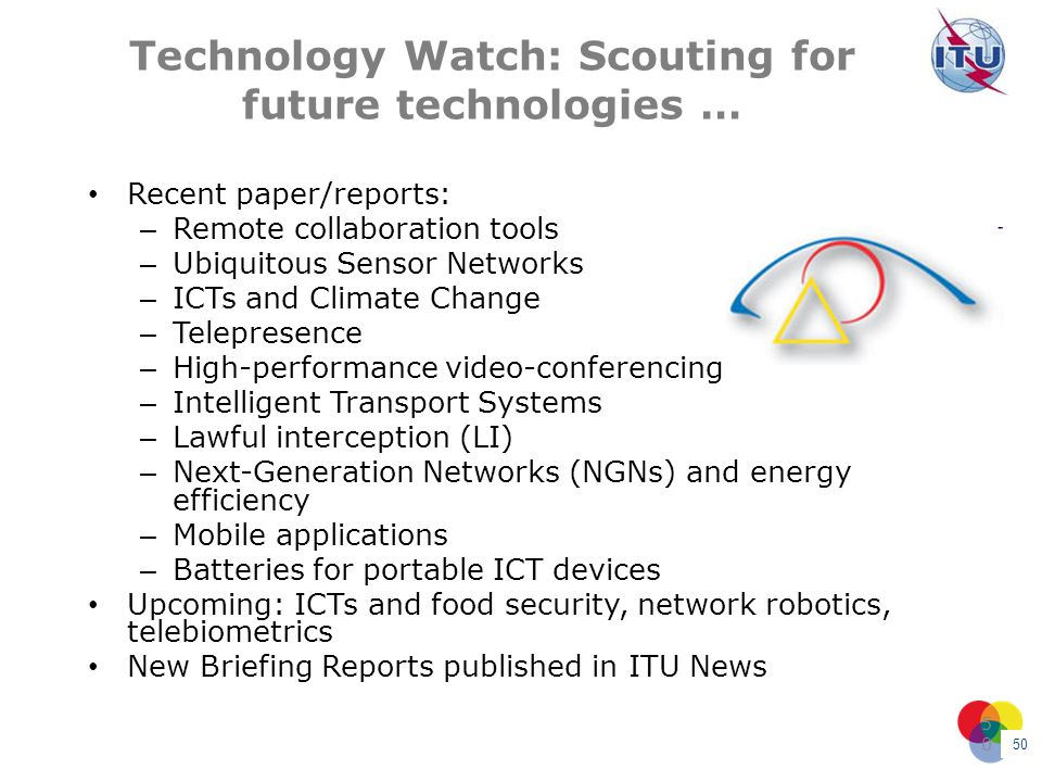 Technology Watch: Scouting for future technologies …