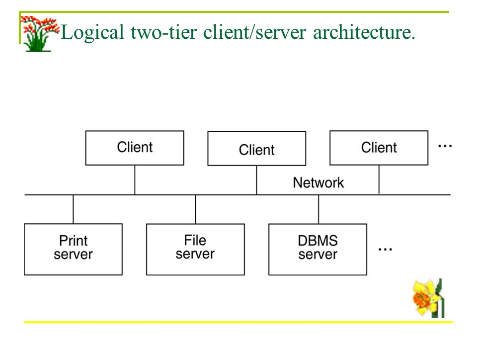 Chapter 2 database archetecture welcome to chapter ppt for Architecture 2 tiers