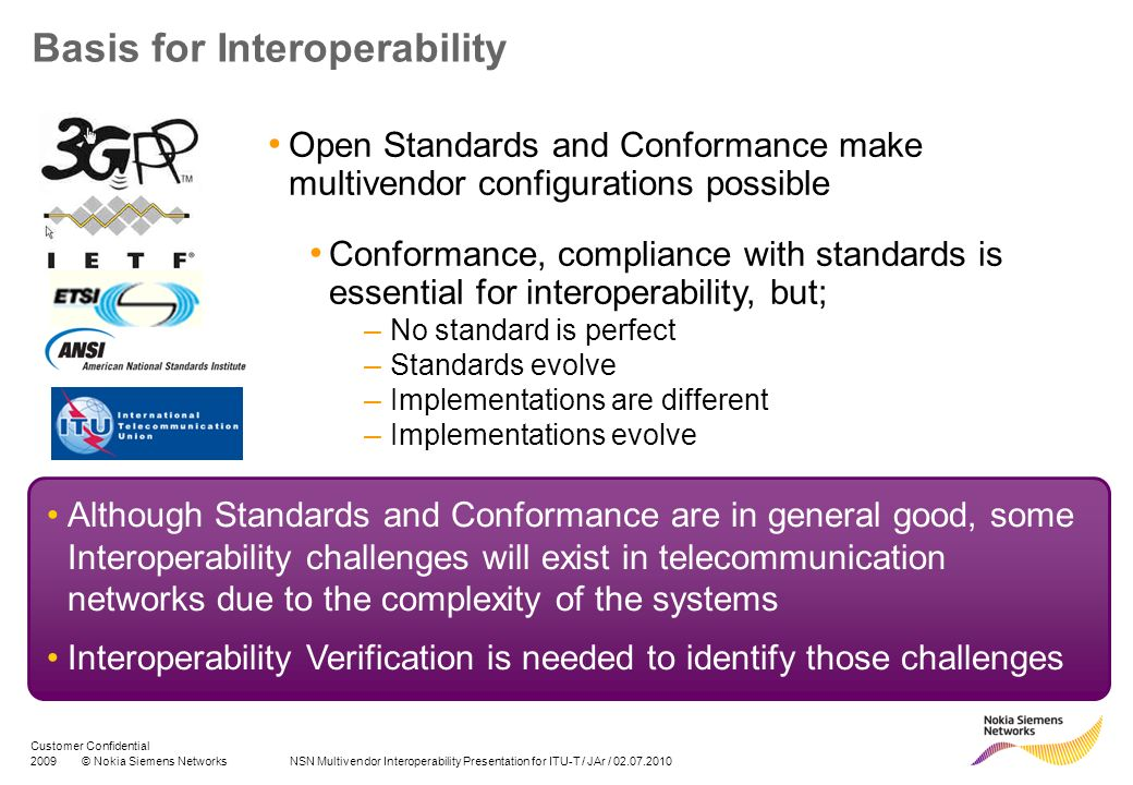 Basis for Interoperability