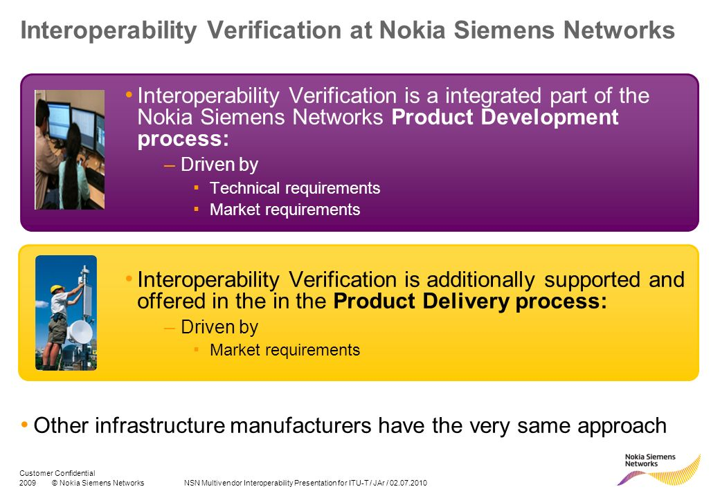 Interoperability Verification at Nokia Siemens Networks