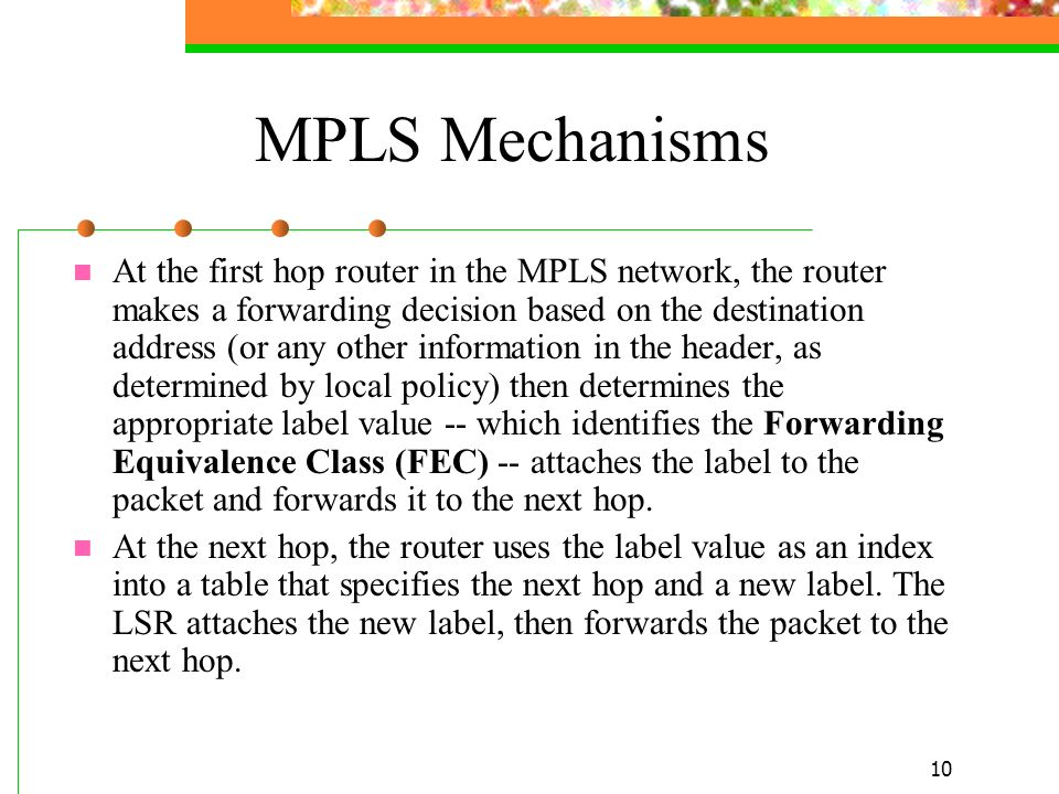 MPLS Mechanisms