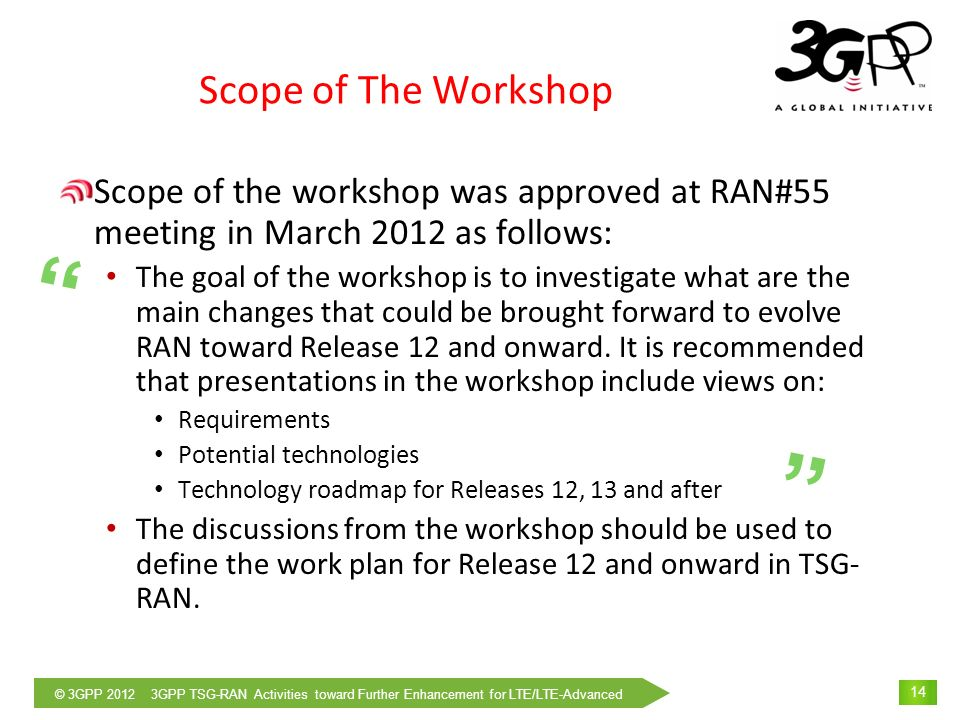 Scope of The Workshop
