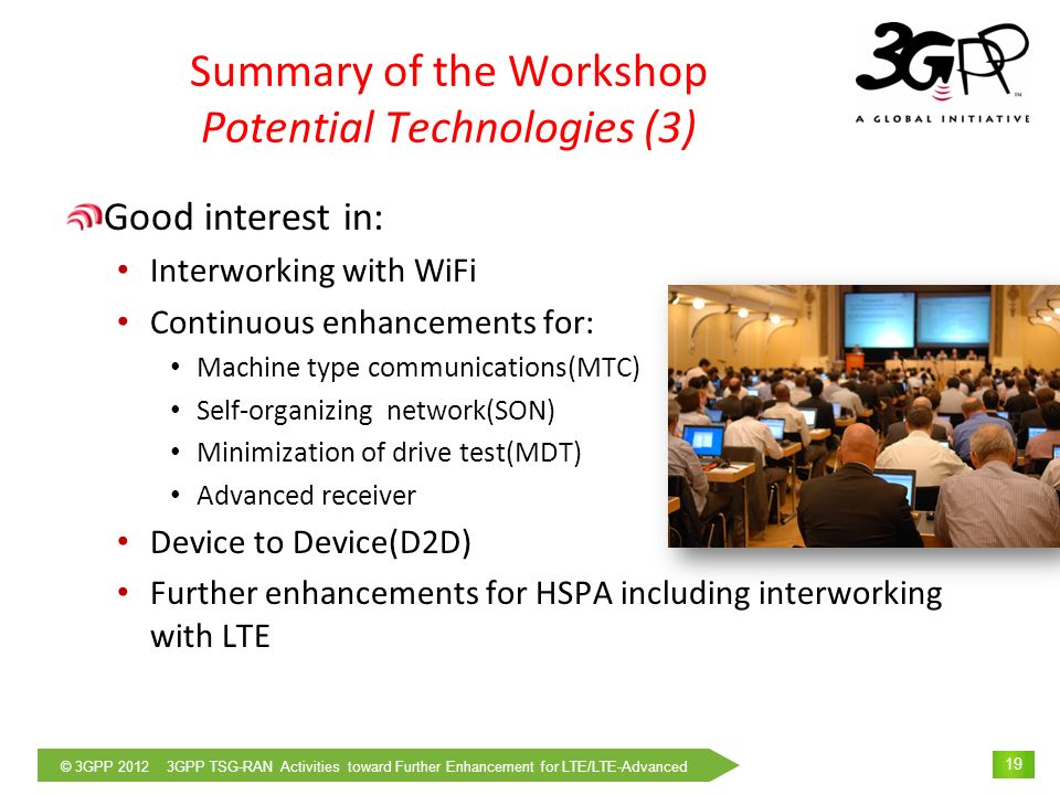 Summary of the Workshop Potential Technologies (3)