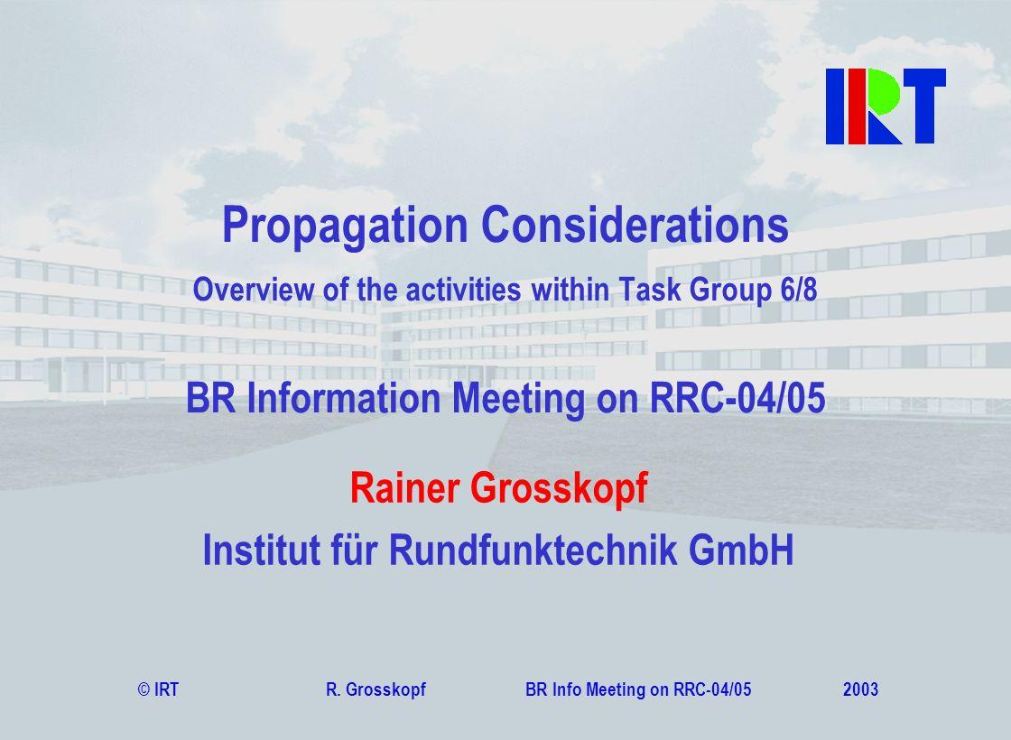 Rainer Grosskopf Institut für Rundfunktechnik GmbH