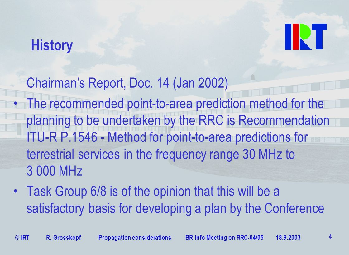 History Chairman's Report, Doc. 14 (Jan 2002)