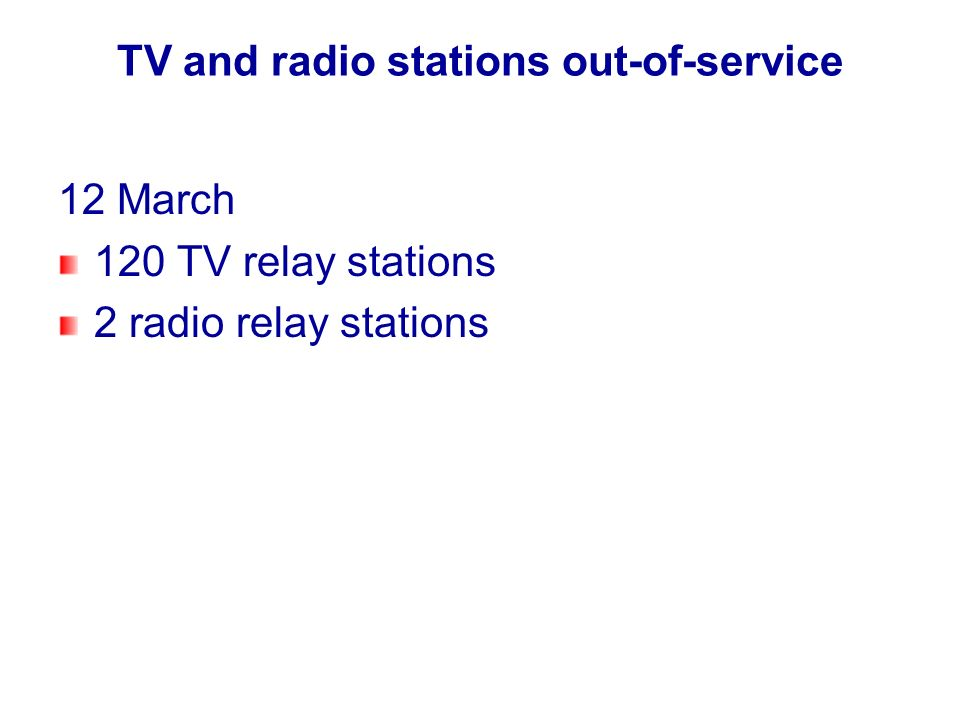 TV and radio stations out-of-service