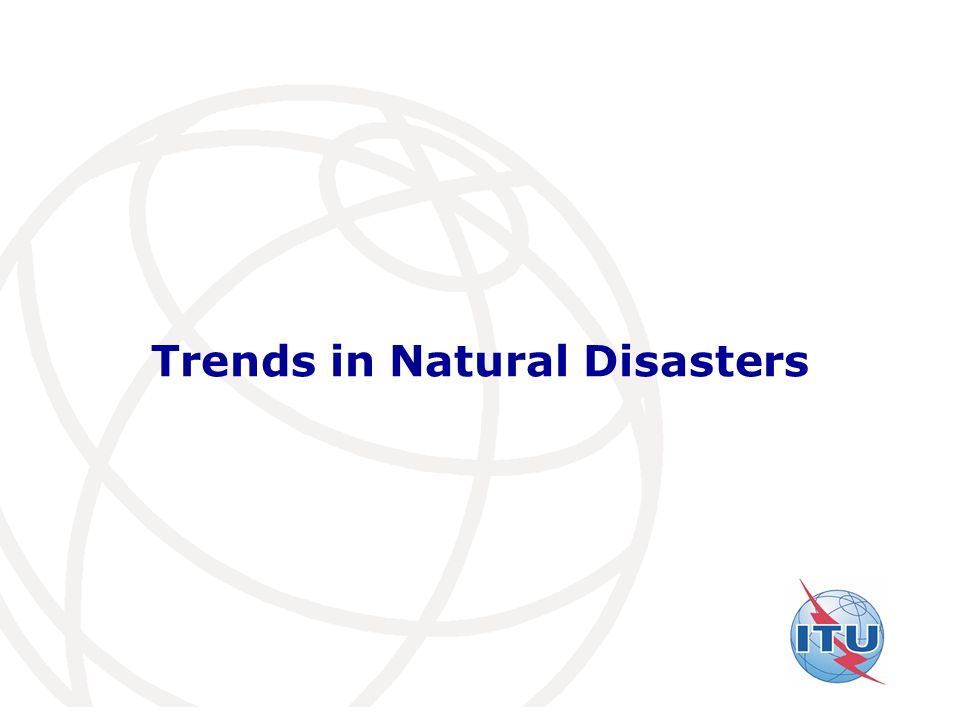 Trends in Natural Disasters