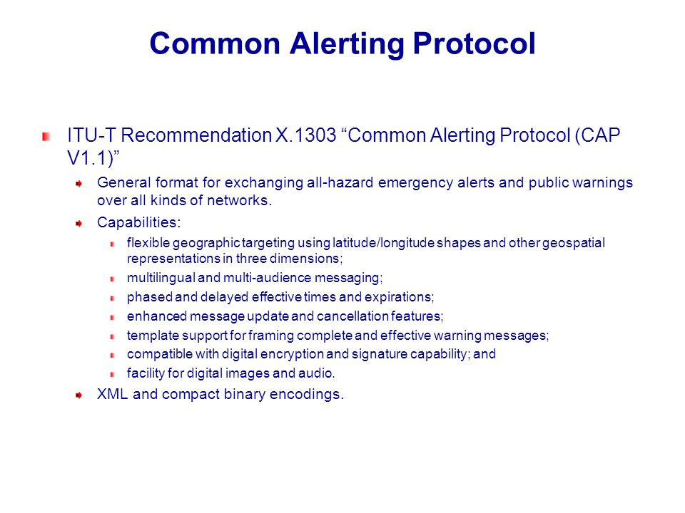 Common Alerting Protocol