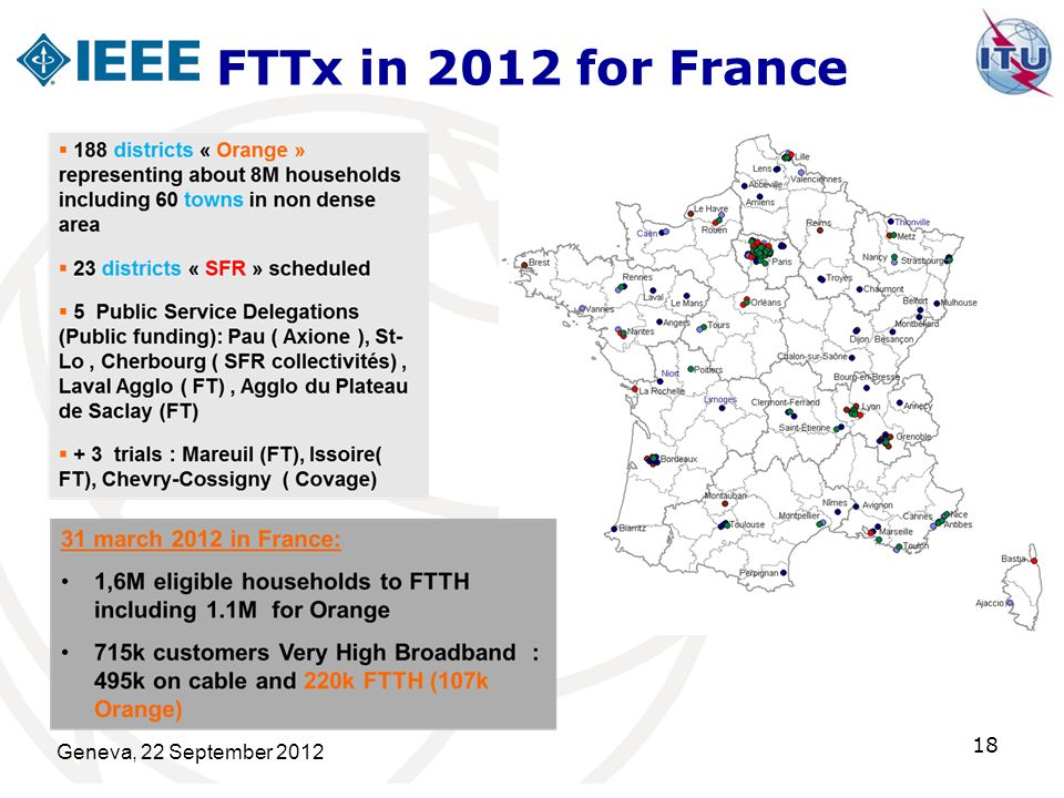 FTTx in 2012 for France Geneva, 22 September 2012