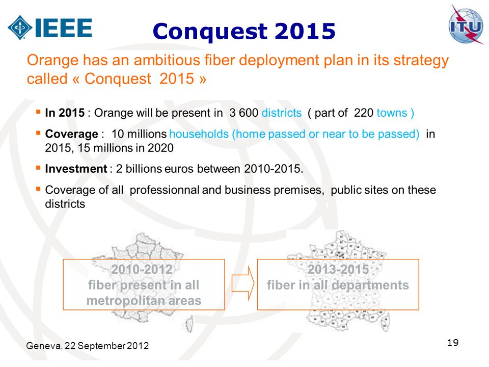 Conquest 2015 Geneva, 22 September 2012