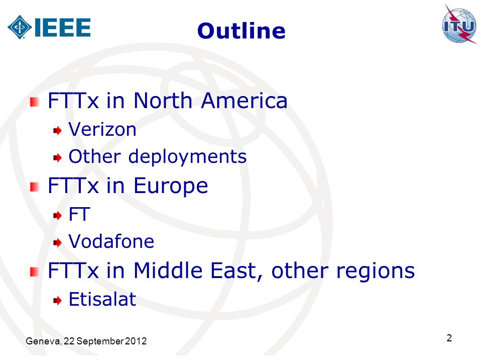 FTTx in Middle East, other regions