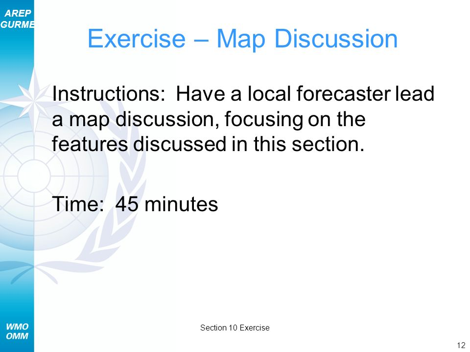 Exercise – Map Discussion