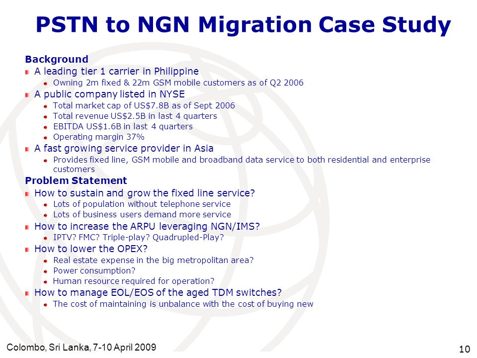 PSTN to NGN Migration Case Study