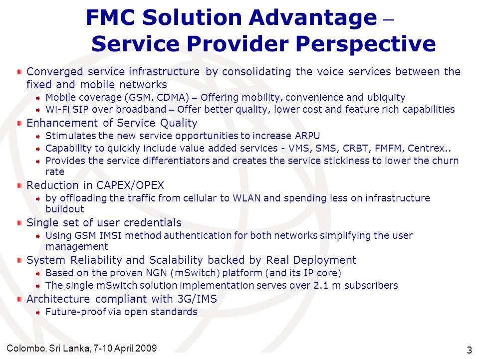 FMC Solution Advantage – Service Provider Perspective