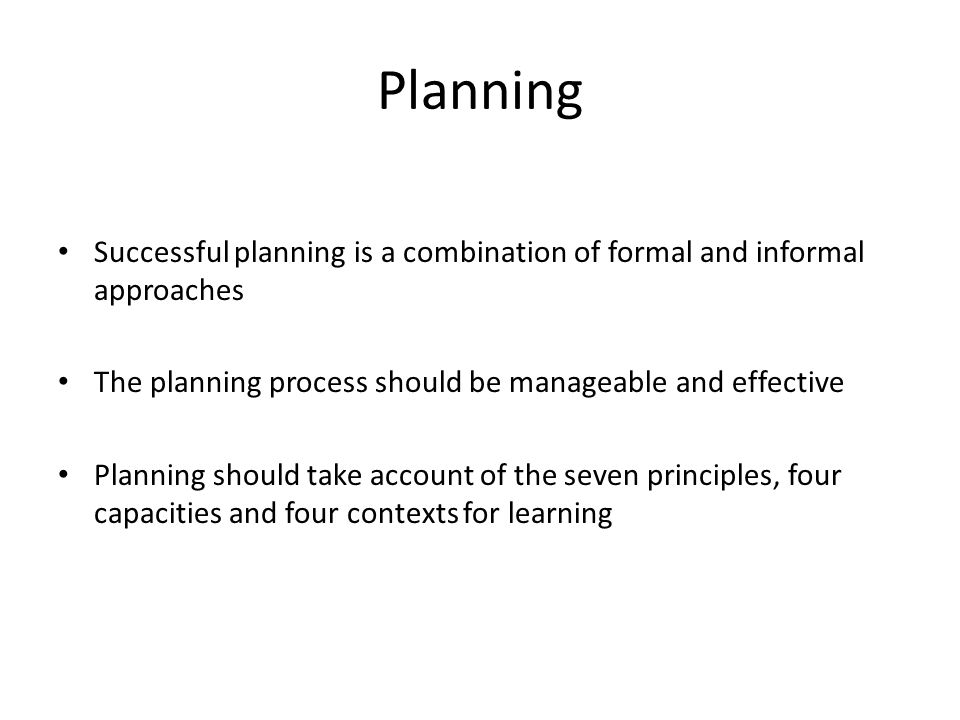 the importance of formal planning procedures The control process is the system that allows setting, measure, match and tweak any business activities such as production, packaging, delivery and more controlling is an essential part of management process.