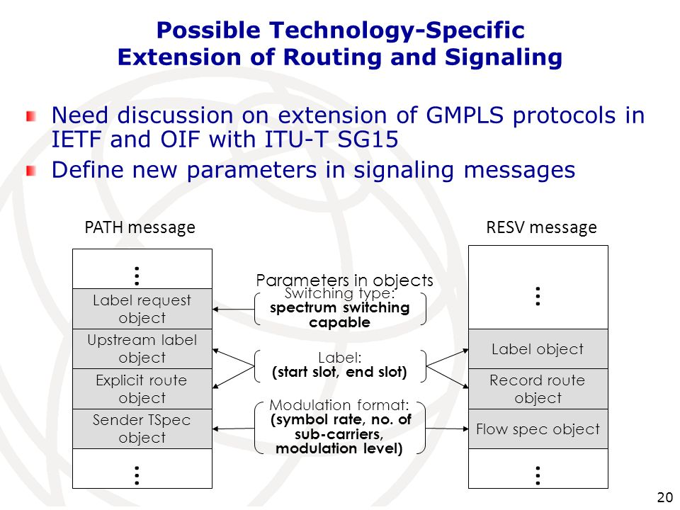 Possible Technology-Specific Extension of Routing and Signaling