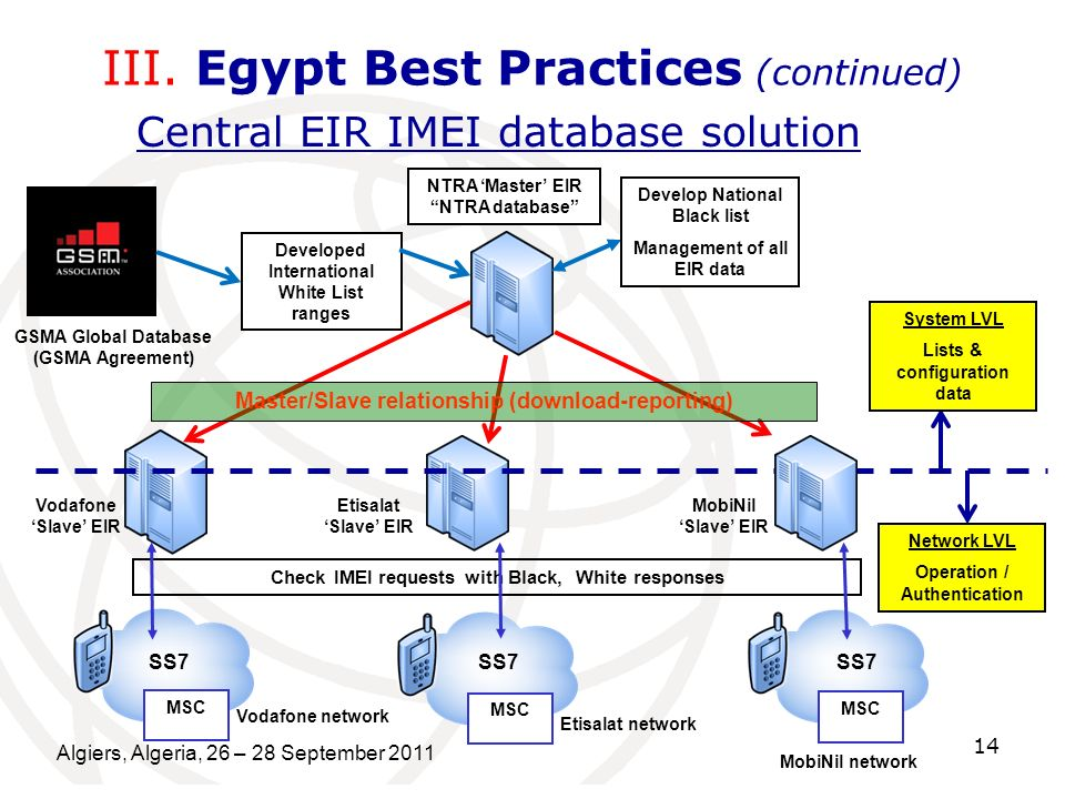 III. Egypt Best Practices (continued)