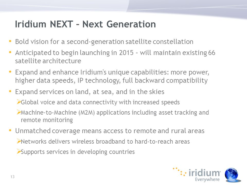 Iridium NEXT – Next Generation
