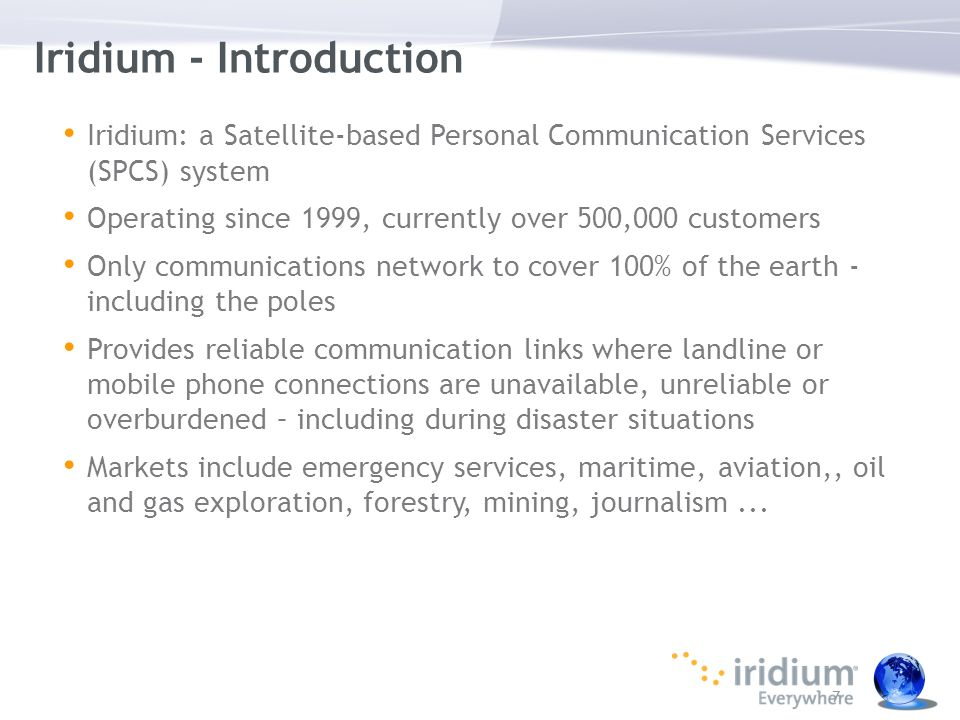 Iridium - Introduction
