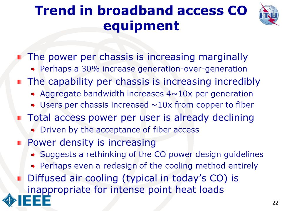 Trend in broadband access CO equipment