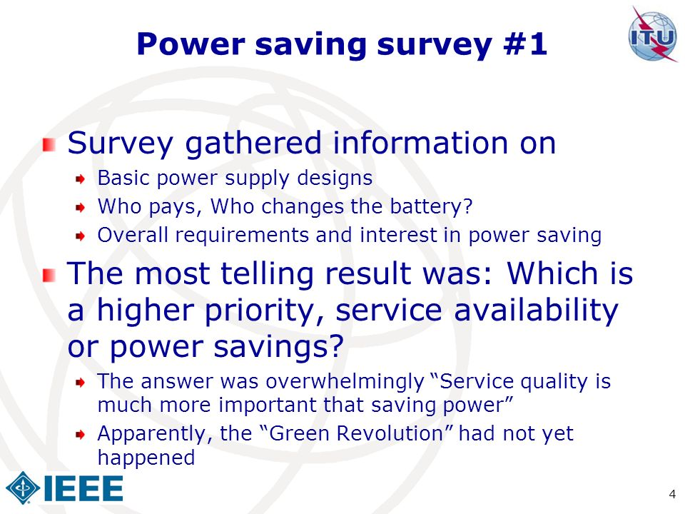 Survey gathered information on