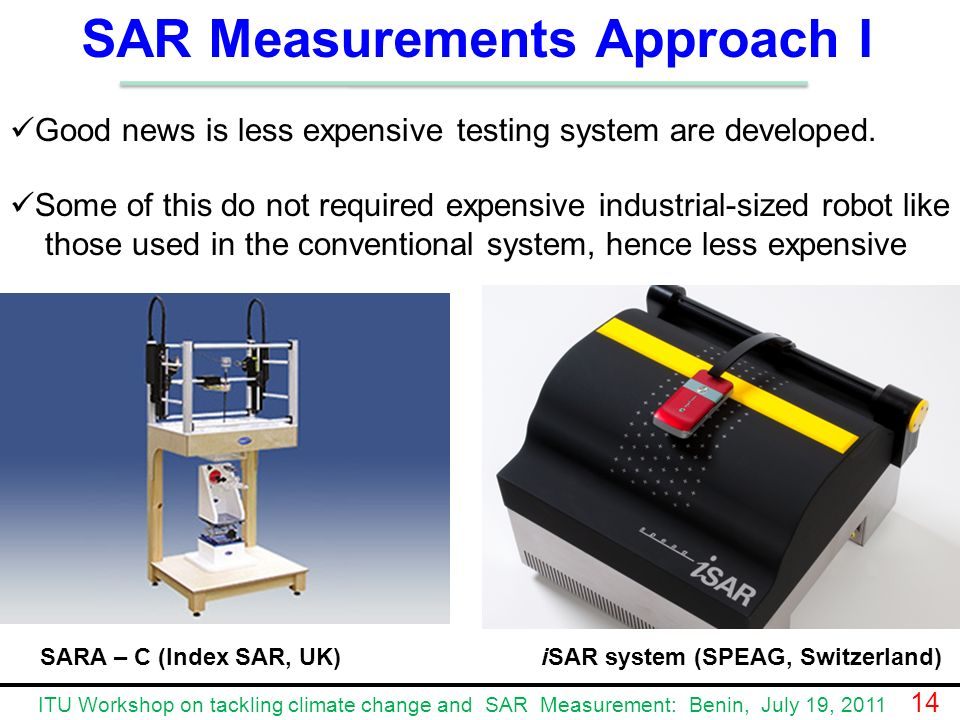 SAR Measurements Approach I