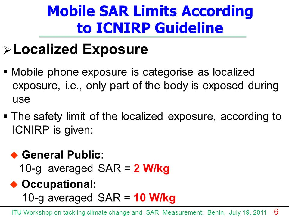Mobile SAR Limits According