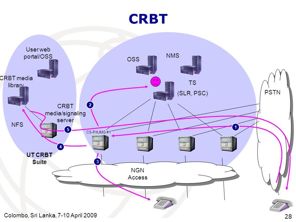 CRBT media/signaling server