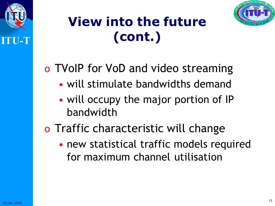 View into the future (cont.)