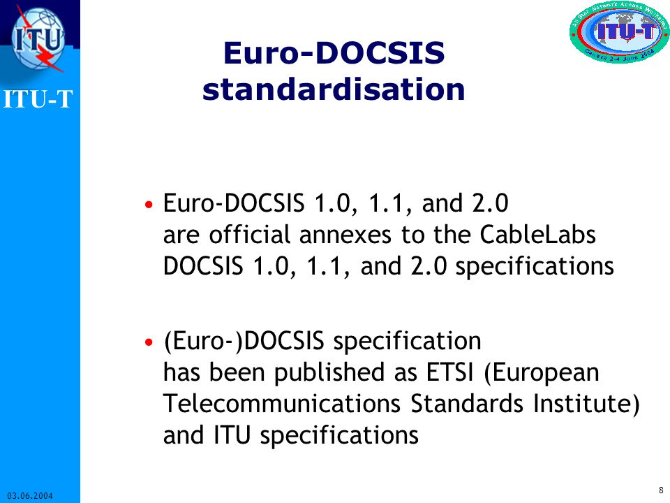Euro-DOCSIS standardisation